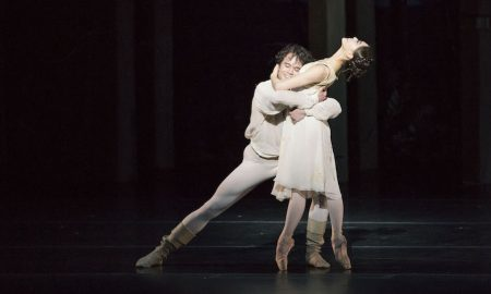 Paulo Arrais and Misa Kuranaga in John Cranko's 'Romeo & Juliet'. Photo by Liza Voll, courtesy of Boston Ballet.