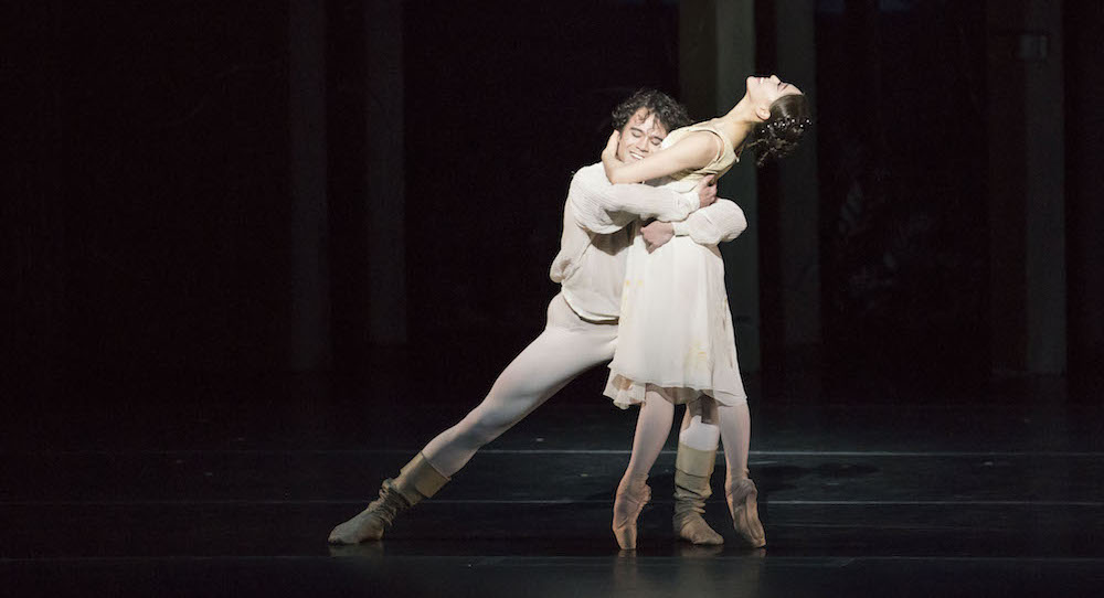 Paulo Arrais and Misa Kuranaga in John Cranko's 'Romeo & Juliet'. Photo by Liza Voll, courtesy of Boston Ballet.