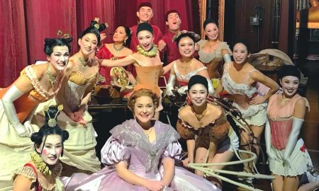 Saki Masuda and cast backstage during 'The King and I'. Photo courtesy of Saki.