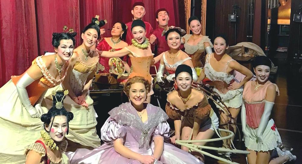 Saki Masuda and cast backstage during 'The King and I'. Photo courtesy of Saki.