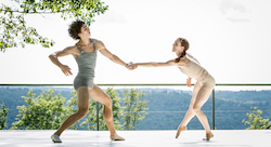 Aleks Subotic and Gabrielle Lamb at Jacob's Pillow. Photo by Glenn Goettler.