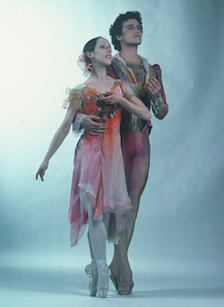 Francesca Corkle and Greg Huffman in Joffrey's 'Remembrances'. Photo by Herb Migdoll.