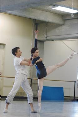 Gabrielle Lamb (right) and Marcin Kaczorowski. Photo by Serguei Endinian.