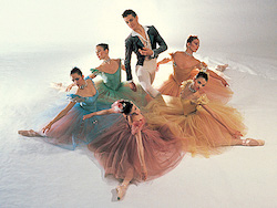 Joffrey Ballet in Gerald Arpino's 'Birthday Variations'. Photo by Herb Migdoll.