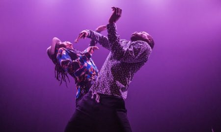 Jon Boogz and Lil Buck in 'Love Heals All Wounds'. Photo by Tim Salaz.