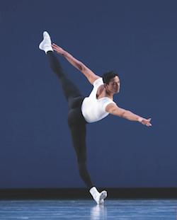 Pacific Northwest Ballet Principal Dancer Karel Cruz in 'Agon', choreographed by George Balanchine © The George Balanchine Trust. Photo by Angela Sterling.