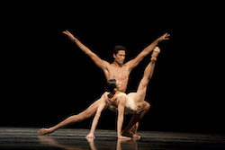 Pacific Northwest Ballet Principal Dancers Lindsi Dec and Karel Cruz in Jiri Kylian's 'Petite Mort'. Photo by Angela Sterling.