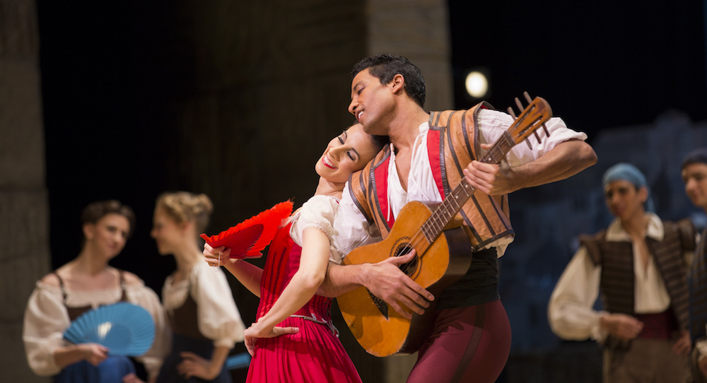 Pacific Northwest Ballet Principal Dancers Lindsi Dec and Karel Cruz in Alexei Ratmansky's 'Don Quixote'. Photo by Angela Sterling.