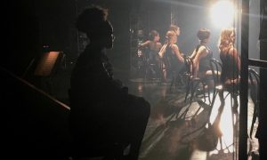 Shamicka Benn watching Cell Block Tango scene backstage at 'Chicago'. Photo by Dance Captain Christophe Caballero.