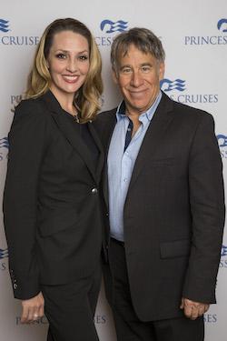 Shannon Lewis and Stephen Schwartz. Photo by Jesus Aranguren/AP Images for Princess Cruises.