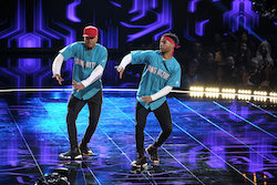 'World of Dance' Qualifiers B-Dash and Konkrete. Photo by Justin Lubin/NBC.