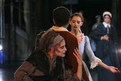 Elizabeth Olds and Melissa Hough in August Bournonville's 'La Sylphide'. Photo by Sabi Varga, courtesy of Boston Ballet.