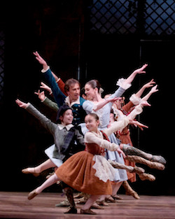 Boston Ballet in August Bournonville's 'La Sylphide'. Photo by Angela Sterling, courtesy of Boston Ballet.