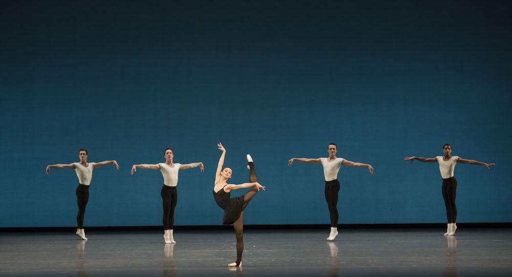 Boston Ballet in George Balanchine's 'Stravinsky Violin Concerto' © The George Balanchine Trust. Photo by Liza Voll, courtesy of Boston Ballet.