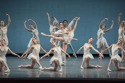 Boston Ballet in George Balanchine's 'Chaconne'. © The George Balanchine Trust. Photo by Liza Voll; courtesy of Boston Ballet.