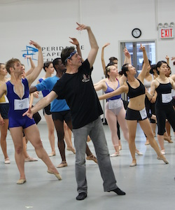 Igal Perry at a PCDC audition. Photo courtesy of Peridance Capezio Center.