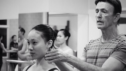 Igal Perry with a student. Photo courtesy of Peridance Capezio Center.