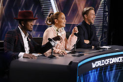 'World of Dance' judges Ne-Yo, Jennifer Lopez and Derek Hough. Photo by Trae Patton/NBC.