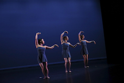 MinSeon Kim, Laura Di Orio and Katie Martin-Lohiya in Lydia Johnson Dance's 'What Counts'. Photo by Travis Magee.