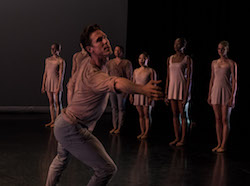 Stephen Hanna in Lydia Johnson Dance's 'This, and my heart beside...'. Photo by Dmitry Beryozkin.