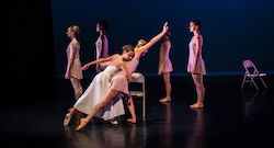 Katie Martin-Lohiya, Sara Spangler with Company in 'This, and my heart beside...'. Photo by Dmitry Beryozkin.