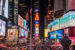 New York City's Times Square.