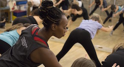 Kim Holmes teaching her Open Groove class. Photo courtesy of Peridance Capezio Center.