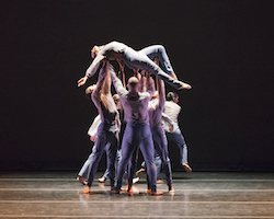 Philadanco in Tommie Waheed Evans' 'With(In)Verse'. Photo by Julieanne Harris.
