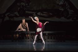 Derek Dunn and Lia Cirio in George Balanchine's 'Prodigal Son' © The George Balanchine Trust. Photo by Liza Voll, courtesy of Boston Ballet.
