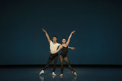 John Lam and Kathleen Breen Combes in George Balanchine's 'Stravinsky Violin Concerto'. © The George Balanchine Trust. Photo by Liza Voll, courtesy of Boston Ballet.