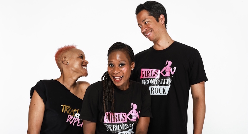 Keisha Greaves (left), founder of Girls Chronically Rock. Photo by Bill Parsons.