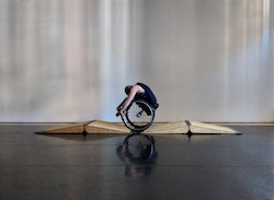 Kinetic Light's Laurel Lawson in a wheelie. Photo courtesy of Kinetic Light.