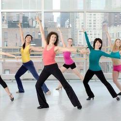 Sue Samuels' jazz dance class. Photo courtesy of Samuels.