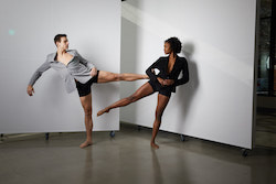 Urbanity dancers in the company's new space. Photo by Eli Akerstein.