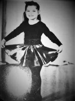April Vidal at age four. Photo courtesy of Vidal.