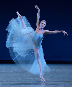 Sara Mearns in George Balanchine's 'Serenade'. Photo by Paul Kolnik, for NYCB.