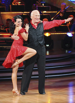 Ashly Costa and Buzz Aldrin on 'Dancing with the Stars'. Photo by ABC/Adam Larkey.