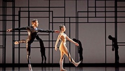 Members of Houston Ballet in Aszure Barton's 'Angular Momentum'.