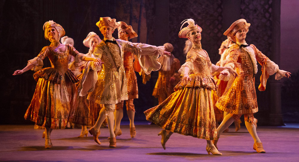 Chase Johnsey (second from right) in English National Ballet's 'The Sleeping Beauty'. Photo by Elliot Franks.