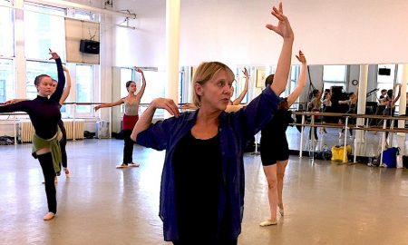 Ginger Thatcher teaching at Steps on Broadway. Photo courtesy of Thatcher.