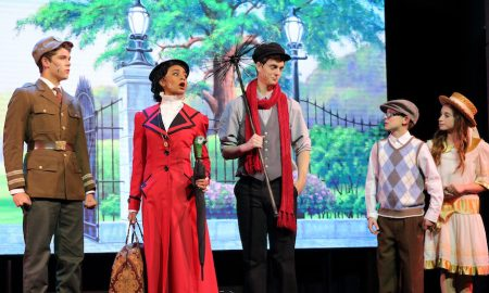 Maranatha Christian School in Mary Poppins using a Grosh Digital Backdrop.