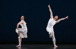 Paul Taylor Dance Company's Christina Lynch Markham and Sean Mahoney in 'Aureole'. Photo by Whitney Browne.