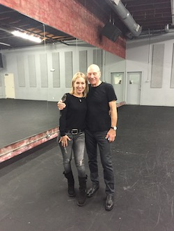 Marguerite Derricks with Patrick Stewart. Photo courtesy of Derricks.