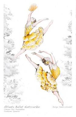 Atlanta Ballet's costume design for 'The Nutcracker'.