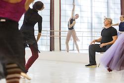 Choreographer Yuri Possokhov in the studio with Atlanta