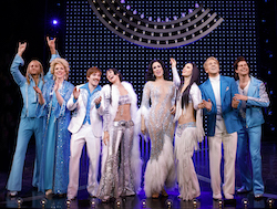 The Cast of 'The Cher Show' on Broadway. Photo by Joan Marcus.