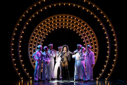 Stephanie J. Block as Star and the cast of 'The Cher Show' on Broadway. Photo by Joan Marcus.