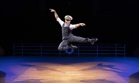 Corbin Bleu (Billy Crocker) in 'Anything Goes' at Arena Stage at the Mead Center for American Theater. Photo by Maria Baranova.