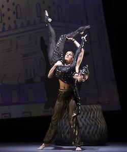 Keaton Leier & Monika Haczkiewicz in Arabian. Photo by Gene Schiavone.