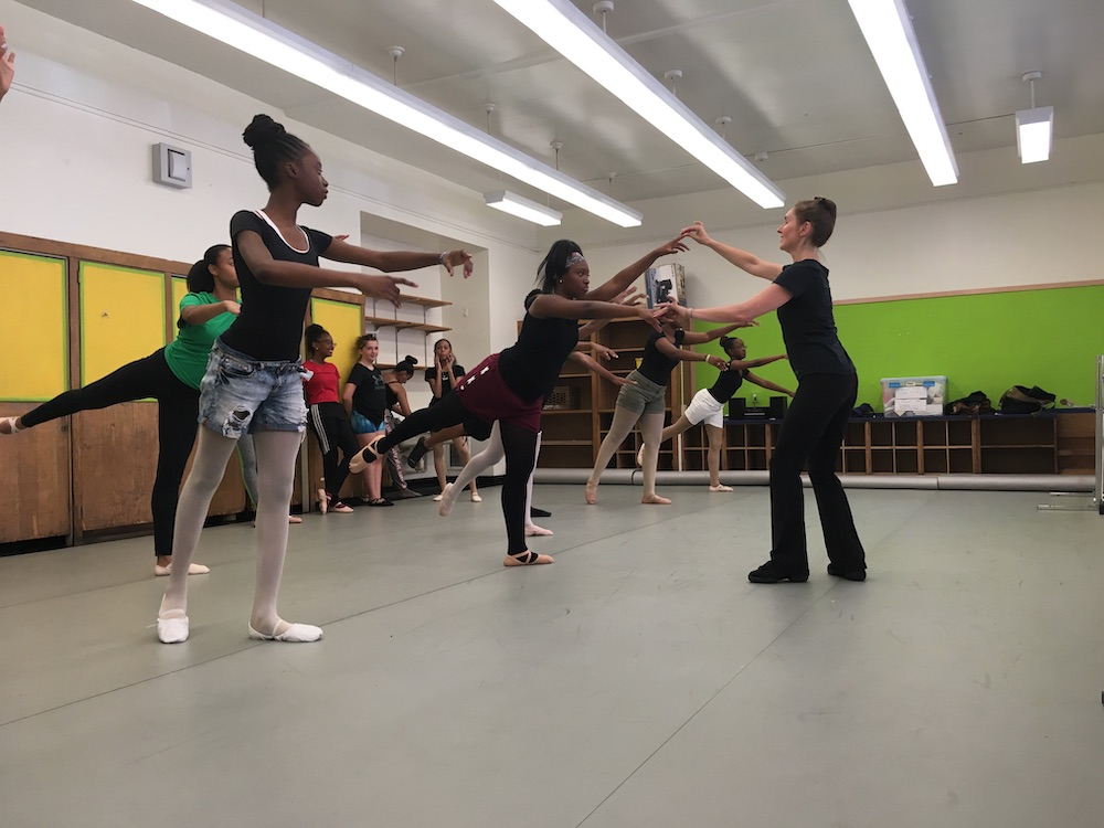 Michelle Cave teaching for Ballet and Beyond NYC. Photo courtesy of Cave.